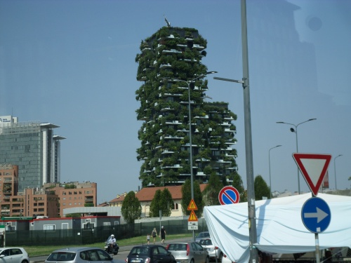 Milan apartment buildingn with vertical gardens