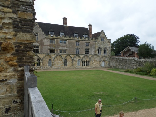 Bishop's Palace and Cloister arch outlines