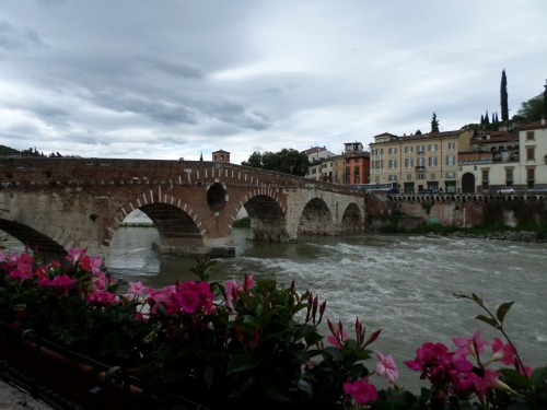 View of the river and ponte Pietra
