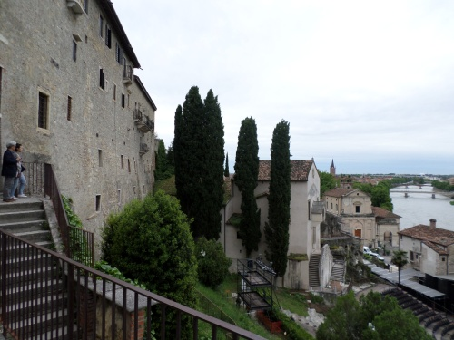 The Monastery, Church of Saints Siro and Libera, and the theatre.