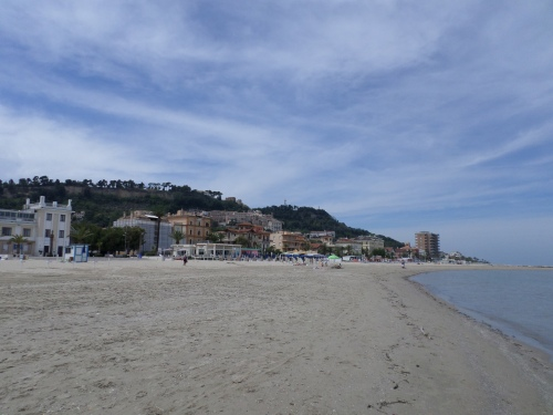 Grottamare, beach and old town