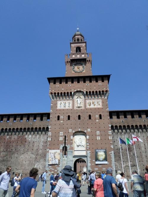 Entering Sforza Castle