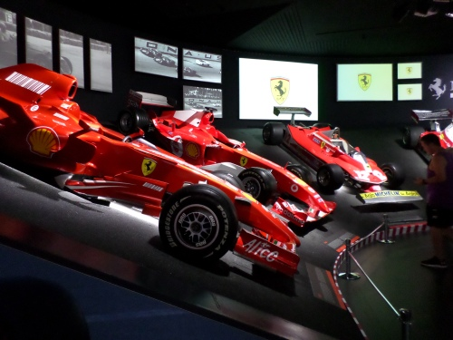 Ferrari F1 race cars